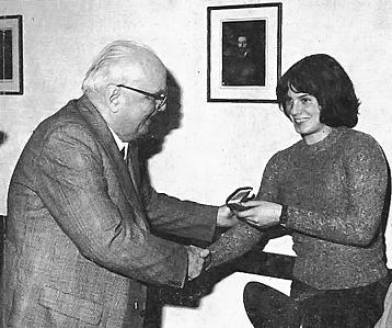 8 ottobre 1970: consegna della Palma d'Oro a Giuliana Amici