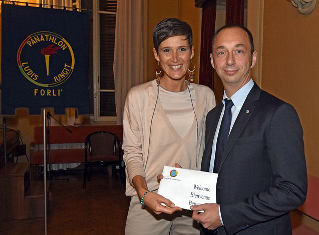 Mario Fedriga con la Presidente Rosetti