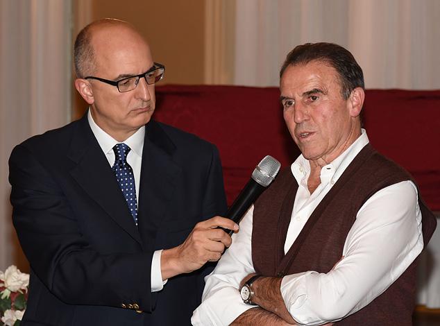 Recalcati intervistato da Stefano Benzoni, che ha condotto la serata