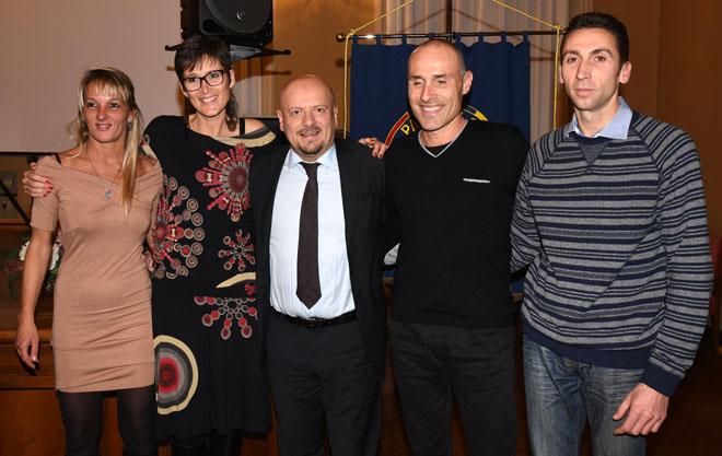 Da sn: Sara Samorì, Marilena Rosetti, Loris Cappanna e Andrea Soldati